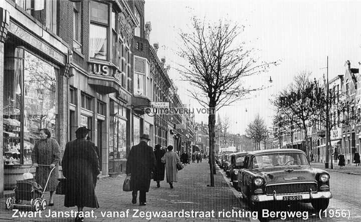 Zwart janstraat richting bergweg 1956