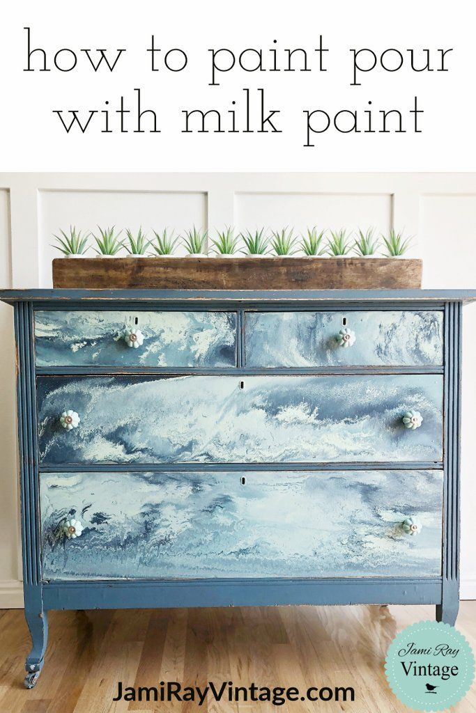 how to paint pour with milk paint youtube video