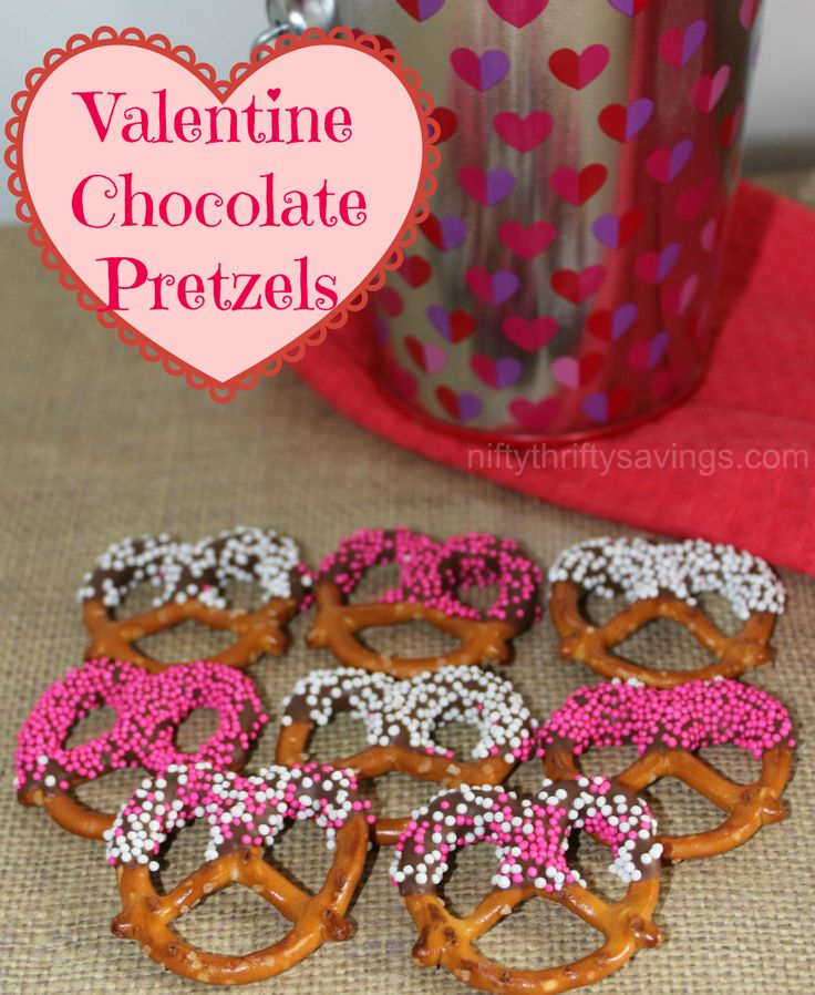 valentines chocolate pretzels wish I could make for Madison's class, but alas, only store bought treats.