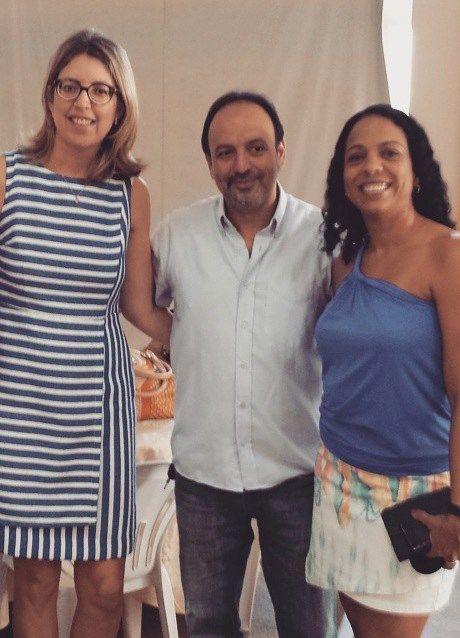 Dra. Arlete Mesquita, Ricardo Manzi e Isabel Santos