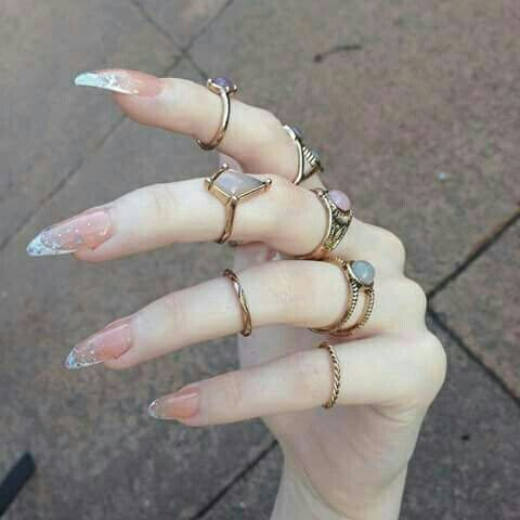 Most popular tags for this image include: nails, rings, grunge, pale and nail…