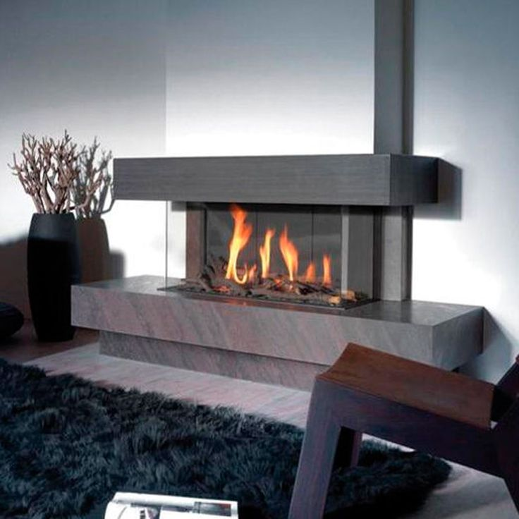 Awesome Three Sided Fireplace #2 3 Sided Gas Fireplace