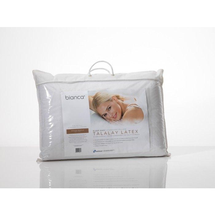 Sleep Easy Talalay Latex Pillow - Medium/ Soft Profile by Bianca