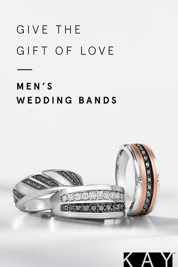 Handsome Wedding Bands From Kay Come Straight From The Heart Mens Wedding Bands Fashion Rings Wedding Bands