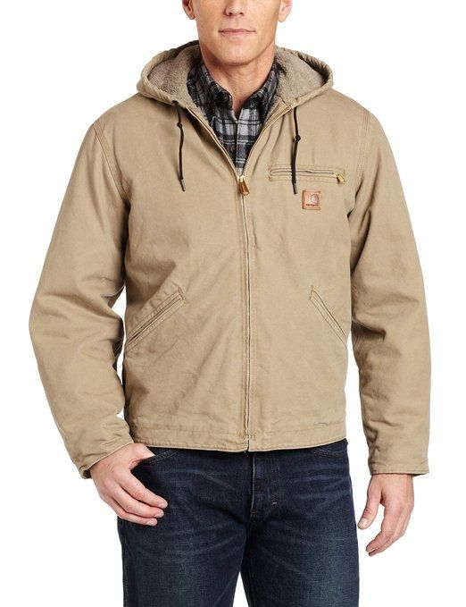 Best Winter Jackets for Men - Carhartt Men's Sandstone Duck Sierra Jacket J141 - see more here: http://www.perfect-gift-store.com/best-winter-jackets-for-men.html