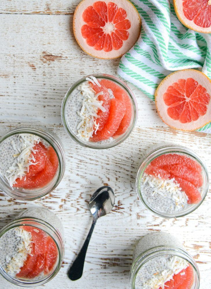 Grapefruit & Ginger Chia Seed Pudding from http://realfoodwholelife.com on http://foodiecrush.com