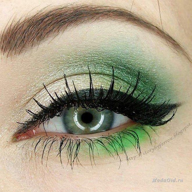 Все о макияже для зеленых глаз: подходящие цвета теней и подводки, выбор макияжа в зависимости от оттенка ваших глаз, варианты дневного и вечернего макияжа зеленых глаз. Все советы проиллюстрированы фотографиями красивого и модного в этом сезоне макияжа для зеленых глаз, а также вы найдете в статье видео уроки по созданию макияжа.