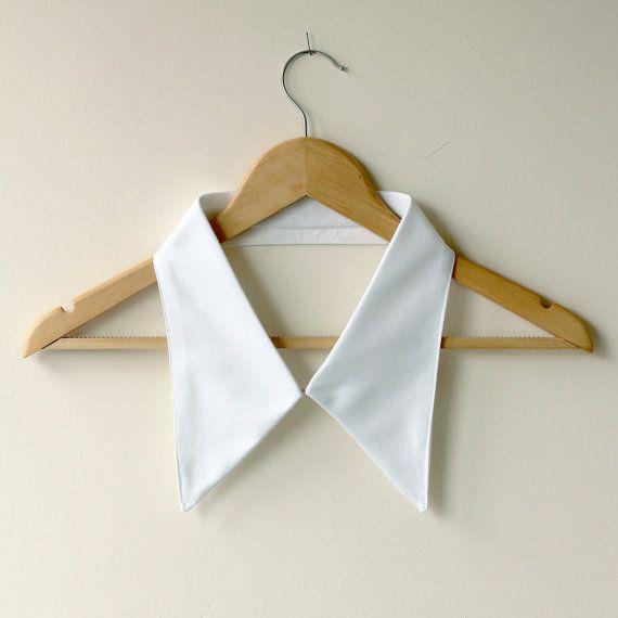Crisp White Shirt Collar  Handmade Cotton by FabricateDesigns, €25.00