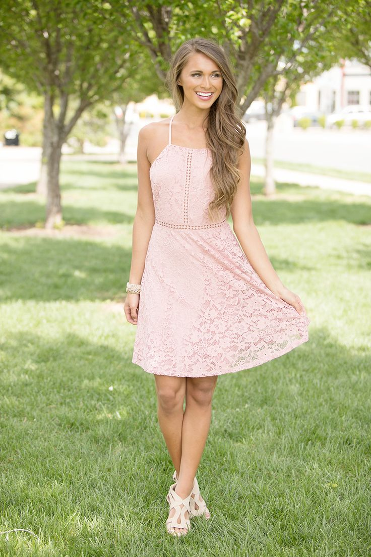Deep In My Heart Lace Dress - The Pink Lily