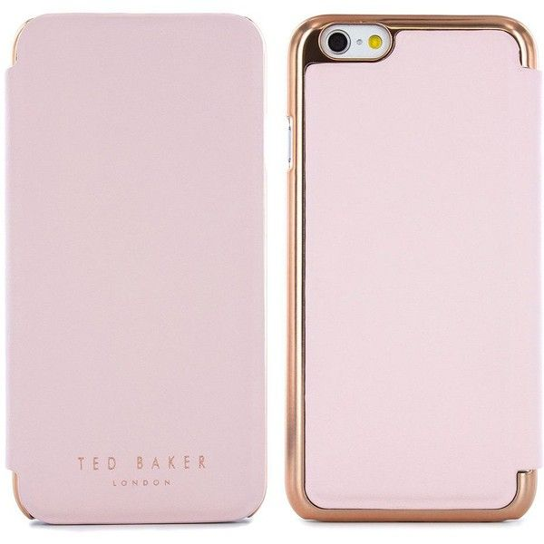 Ted Baker London Shannon Metallic iPhone 6 Case (960 MXN) ❤ liked on Polyvore featuring accessories, tech accessories, rose gold and ted baker
