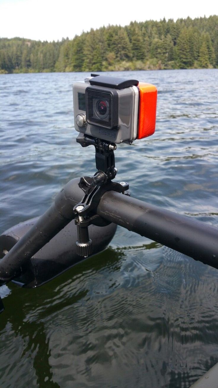 My Gopro mount on my Kayak outriggers.