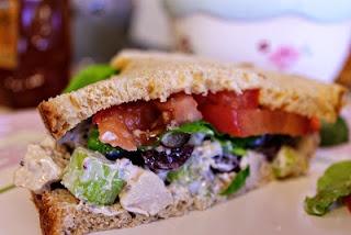 eat clean chicken salad recipe for single serving with greek yogurt