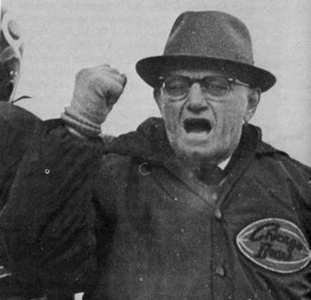 George Halas, founder of the Chicago Bears and the NFL.