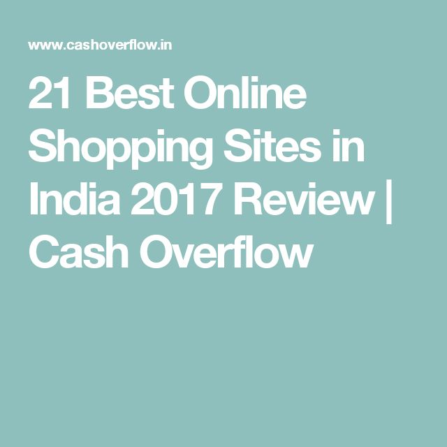 21 Best Online Shopping Sites in India 2017 Review | Cash Overflow