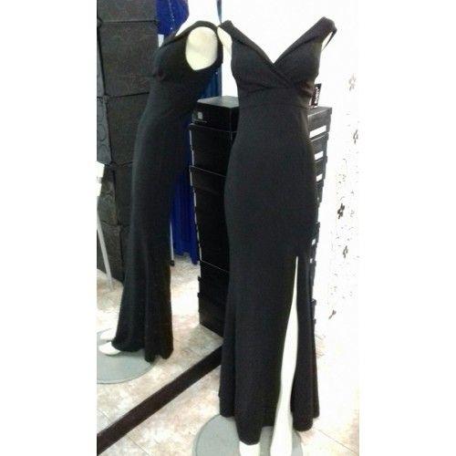 Vestido Largo Ajustado Negro | Suen-Vestidos de fiesta