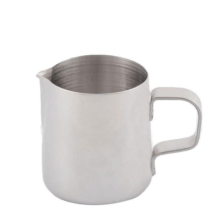 Stainless Steel Beaker Coffee Mug Pitcher Drink Bottle Cup 150ml Silver Tone