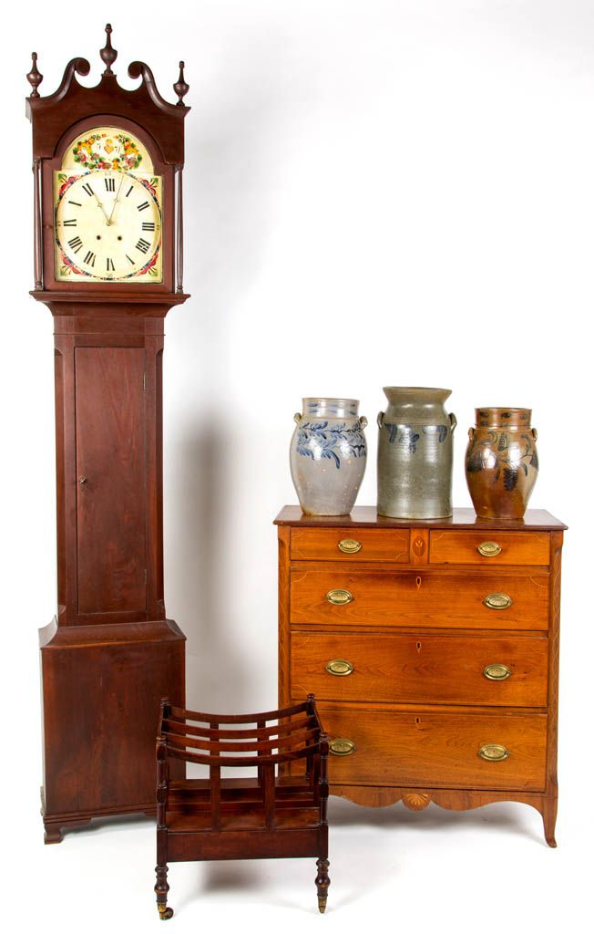 From a good selection of Virginia furniture, including a Shenandoah Co.  inlaid walnut chest - 40 Best Virginia Clocks Images On Pinterest Southern Furniture