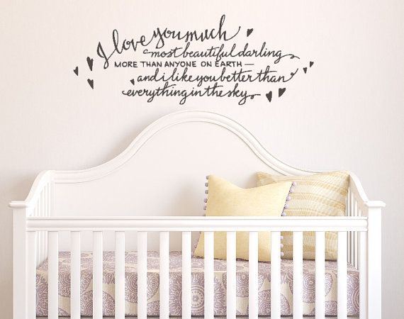 I Love You So Much Most Beautiful Darling. Custom Vinyl Wall Decal By  WelcomingWalls, Part 35