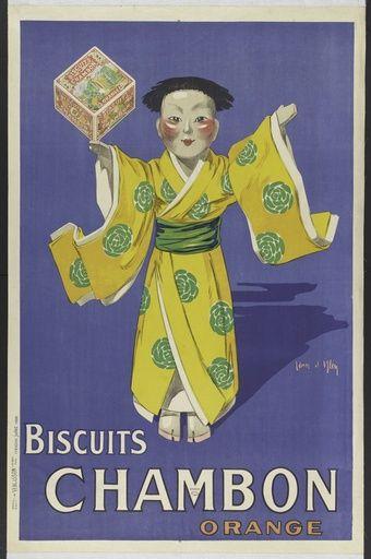 Biscuits Chambon Orange - 1920's - (Jean d'Ylen) -
