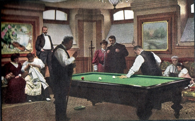 Lumiere brothers. The game of billiards. 1907.