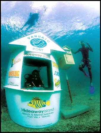 Underwater Post Office. Hideaway Island, Vanuatu.