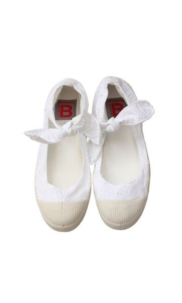 Ballerines Flo blanc - Bensimon (38€)