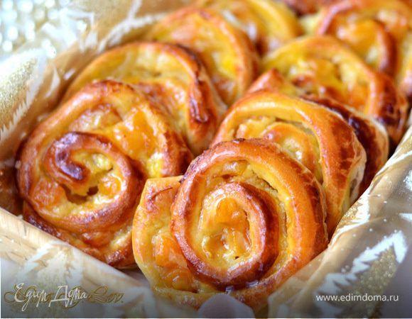 Изумительные ванильные французские булочки (Pain aux raisins)