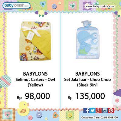 Dapatkan berbagai pernak-pernik kebutuhan bayi Anda hanya di www.babylonish.com  Gratis ongkir Jabodetabek.