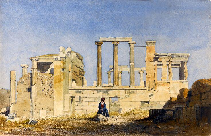 Thomas Hartley Cromek (1809-1873)-The Erectheum, Acropolis, Athens