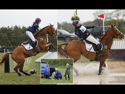Zara Philips Falls off her Horse at the Burnham Market International Hor...