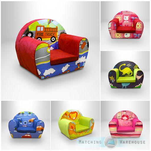 Kids Children's Comfy Soft Foam Chair Toddlers Armchair Seat Nursery Baby Sofa