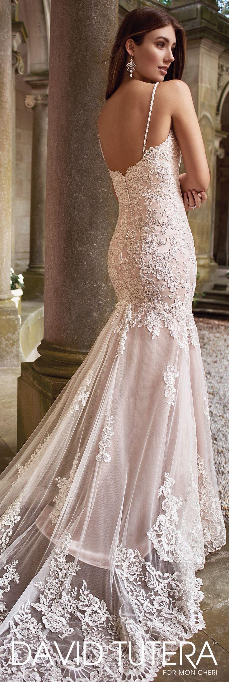 Lace spaghetti strap wedding dress   best Wedding Dresses images on Pinterest  Wedding dressses