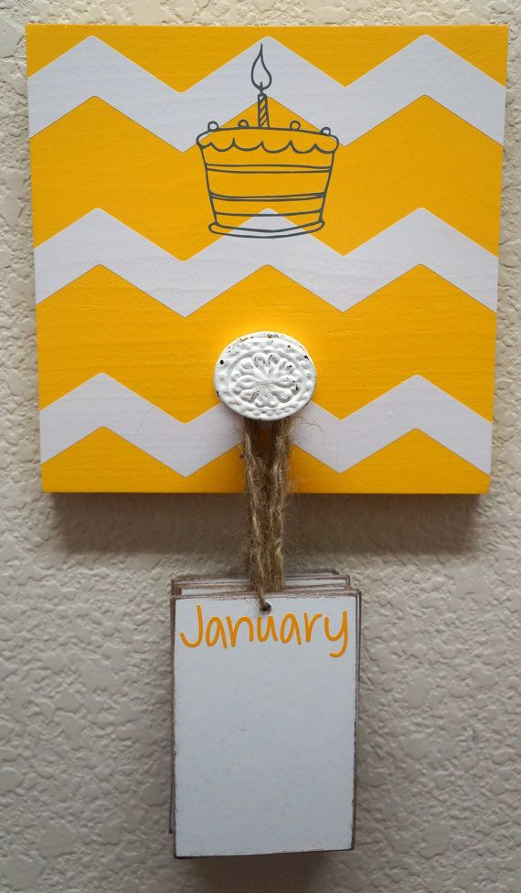 Small Birthday Reminder Board by YourWoodHaven on Etsy