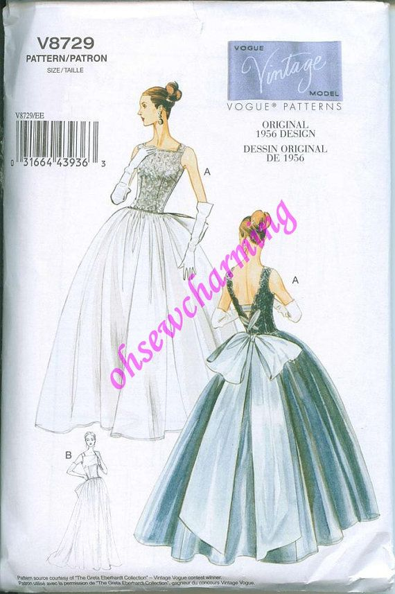 1956 Vogue 8729 Sewing Pattern Vintage styled by OhSewCharming, $12.00