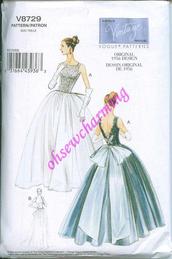 1956 Vogue 8729 Sewing Pattern Vintage styled by OhSewCharming, $12.00