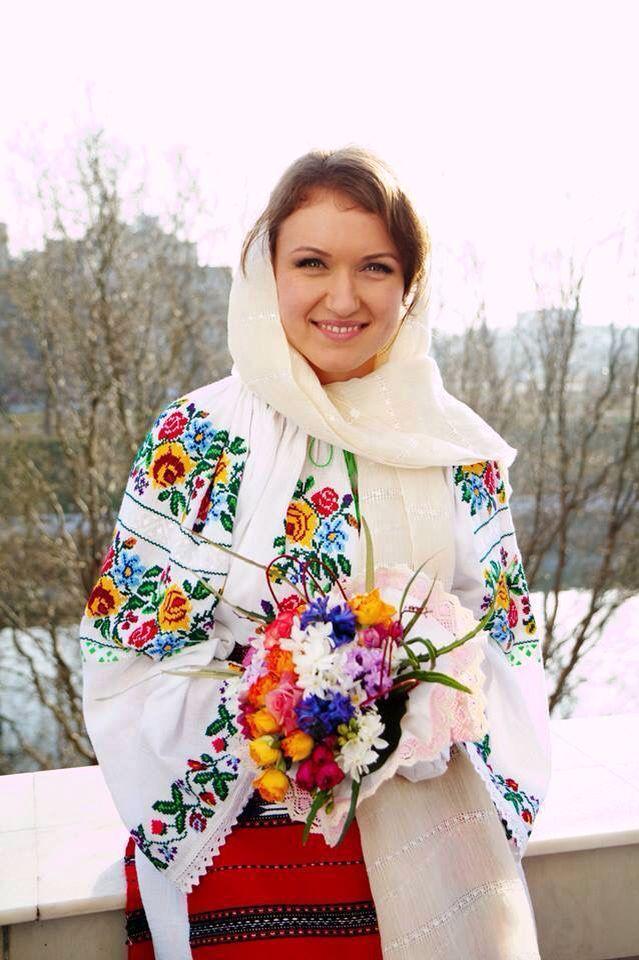 Romanian traditional attire for a bride.beautiful