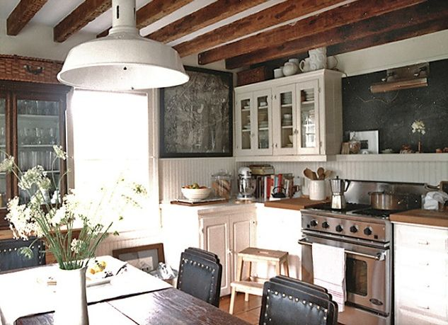 Laura Resen {rustic eclectic vintage industrial modern kitchen} by recent settlers, via Flickr