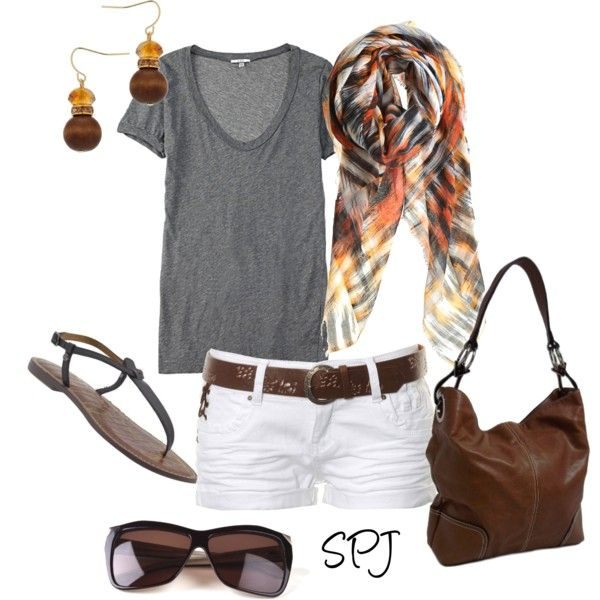 Summer Outfit: Summer Fashion, White Shorts, Casual Summer, Cute Outfits, Cute Summer Outfits, Outfits Ideas, Teen Clothing, Summer Fun, Summer Clothing