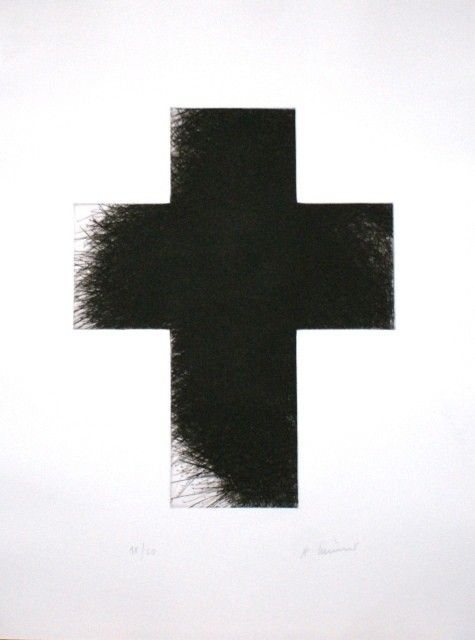"Arnulf Rainer ""Dark Cross"", 2014"