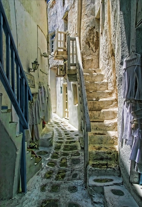 #stairway steps Athens Greece stone street travel photography