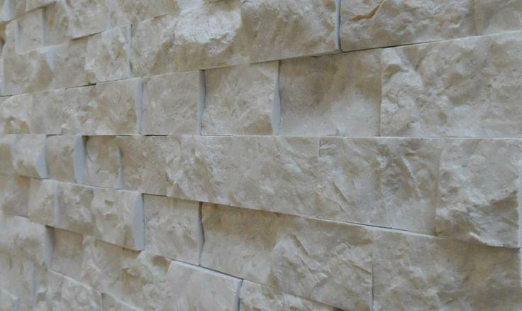 Crema Marfil Splitface -  Feature Wall Decor - Real Marble from Turkey  www.tru-stone.net  Contact - info@tru-stone.net