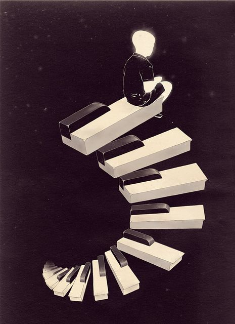 - Endless Tune by mathiole. #artwork #music #piano #pianokeys #art #musicart www.pinterest.com/TheHitman14/music-art-%2B/