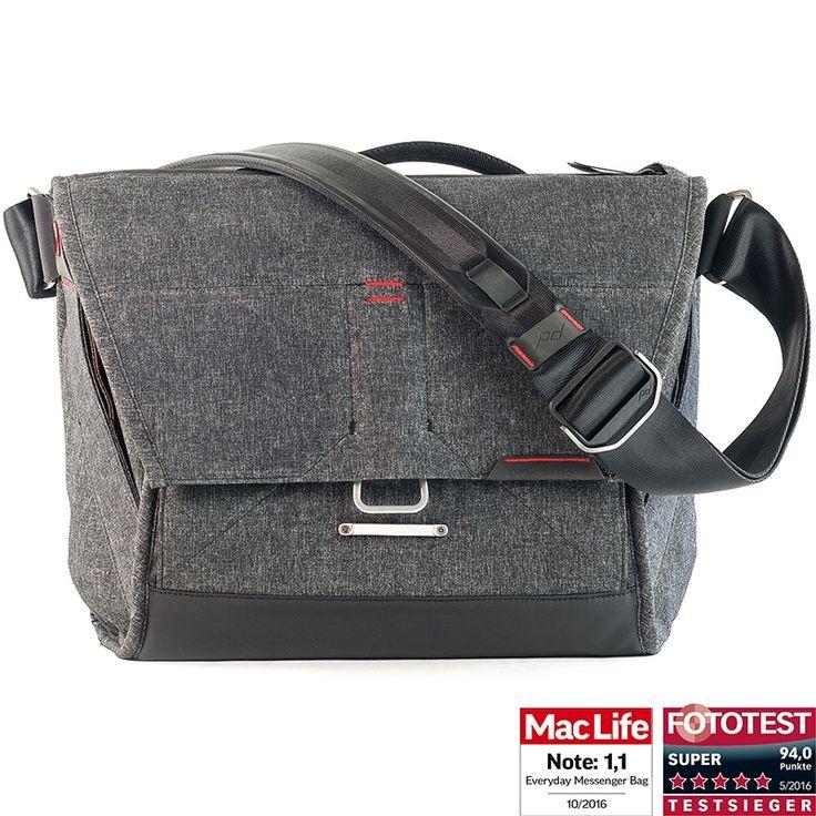 Peak Design Everyday Messenger Bag 13 Charcoal Fototasche für 1 DSLR-Kamera, 1-2 Objektive, 1 13-Zoll-Notebook, 1 Stativ und Zubehör (dunkelgrau) kaufen im Enjoyyourcamera.com Shop