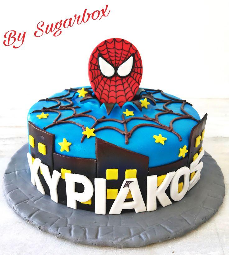 Spiderman Marvel Birthday Cake