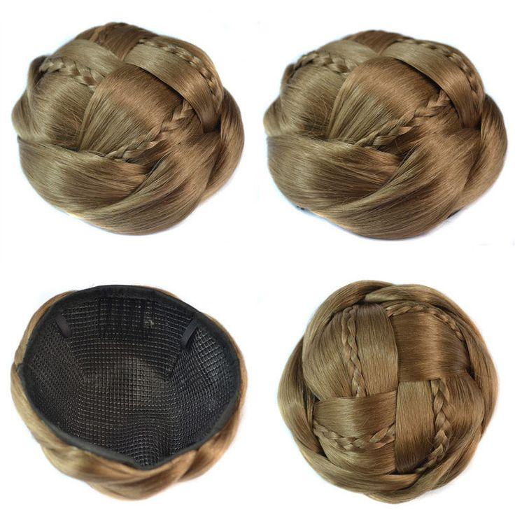 Synthetic hairbuns chignons color of 18# chignon hair pieces bun Q18