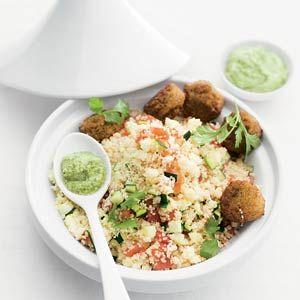 Recept - Couscous met falafel en korianderpesto - Allerhande