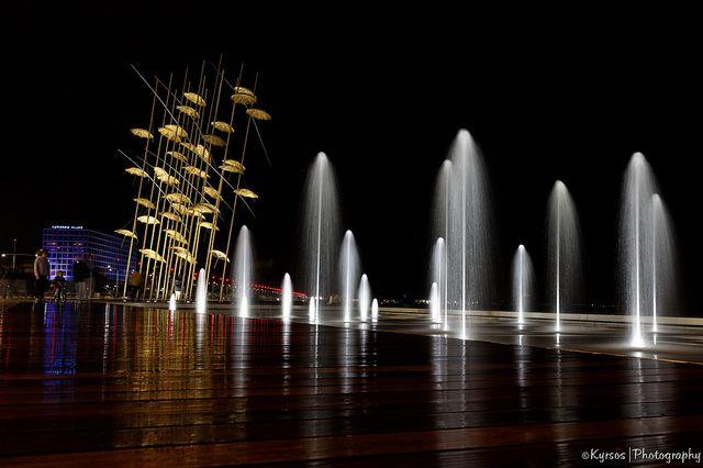 ● Umbrellas Modern Art Installation in Nea Paralia (seafront)   ● Θεσσαλονίκη Ομπρέλες - Νέα Παραλία     ● #thessaloniki #nightshot #night #greece #macedonia #nea #paralia #umbrellas #θεσσαλονικη #νεα #παραλια #νυχτερινη #φωτογραφια