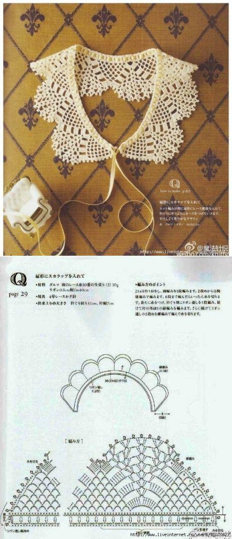 АЖУРНЫЙ ВОРОТНИК :: crochet lace collar.