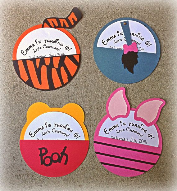 Winnie the Pooh Character Invitations by BooBooBeanCreations, $28.50
