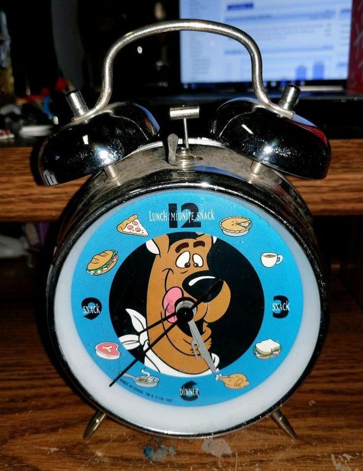 Warner Bros Studio Store SCOOBY DOO ALARM Clock RARE HTF ONLY 1 LISTED  | eBay